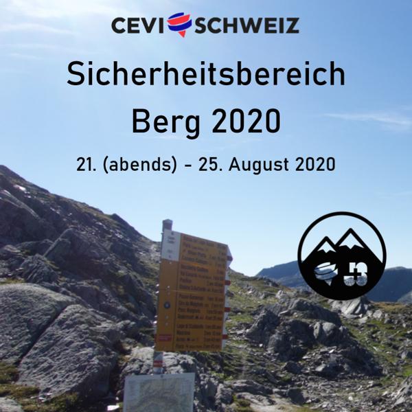 Cevi Region Bern, Bild - Sicherheitsbereich Berg