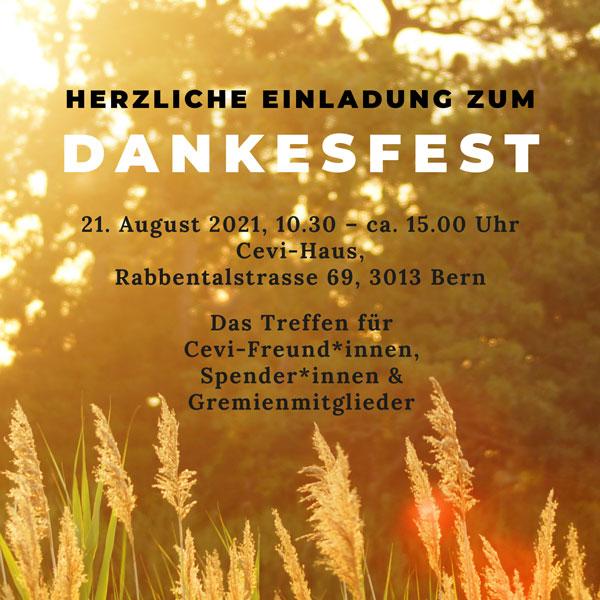 Cevi Region Bern, Dankesfest 2021